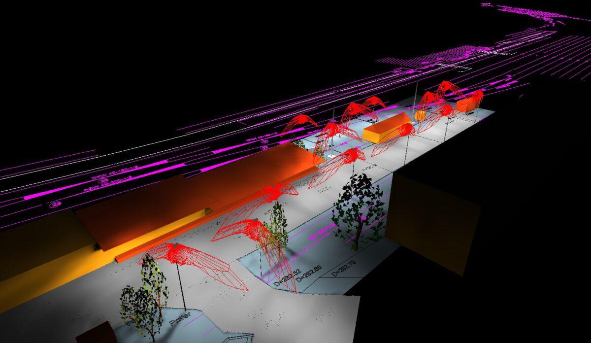 ESTW Zittau, Beleuchtung Umfeld und Zuwegung